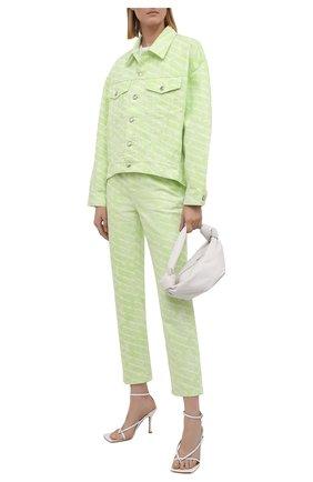 Женские джинсы DENIM X ALEXANDER WANG светло-зеленого цвета, арт. 4DC3214990 | Фото 2
