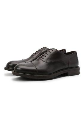 Мужские кожаные оксфорды W.GIBBS темно-коричневого цвета, арт. 3169009/0214 | Фото 1
