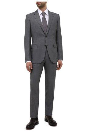 Мужские кожаные оксфорды W.GIBBS темно-коричневого цвета, арт. 3169009/0214 | Фото 2