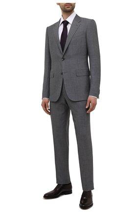 Мужские кожаные оксфорды W.GIBBS темно-коричневого цвета, арт. 7255025/2126 | Фото 2