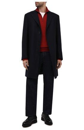 Мужские кожаные дерби DOUCAL'S темно-синего цвета, арт. DU2482DAK0UM019NB00 | Фото 2 (Стили: Классический)