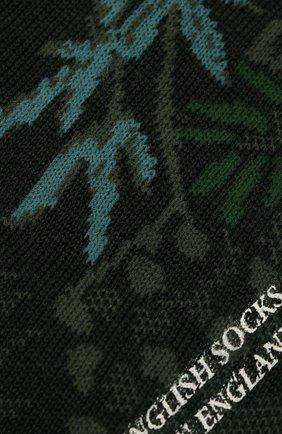 Мужские носки PANTHERELLA зеленого цвета, арт. 535626 | Фото 2