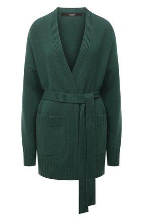 Женский кашемировый кардиган WINDSOR зеленого цвета, арт. 52 DP503 10000805 | Фото 1