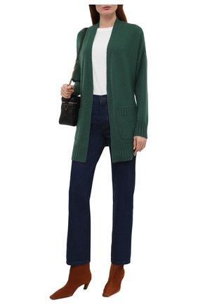 Женский кашемировый кардиган WINDSOR зеленого цвета, арт. 52 DP503 10000805 | Фото 2