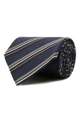 Мужской шелковый галстук BRIONI темно-синего цвета, арт. 062H00/01417 | Фото 1 (Материал: Текстиль; Принт: С принтом)