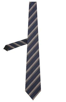 Мужской шелковый галстук BRIONI темно-синего цвета, арт. 062H00/01417 | Фото 2 (Материал: Текстиль; Принт: С принтом)