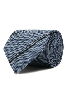 Мужской шелковый галстук BRIONI тёмно-голубого цвета, арт. 062H00/01411   Фото 1