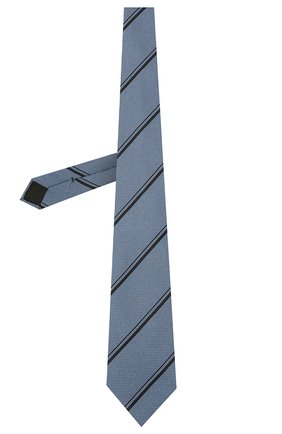 Мужской шелковый галстук BRIONI тёмно-голубого цвета, арт. 062H00/01411   Фото 2