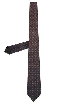 Мужской шелковый галстук BRIONI темно-синего цвета, арт. 061Q00/01406 | Фото 2 (Материал: Текстиль; Принт: С принтом)