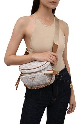 Женская сумка slater medium MICHAEL MICHAEL KORS светло-бежевого цвета, арт. 30T0G04M6B | Фото 2