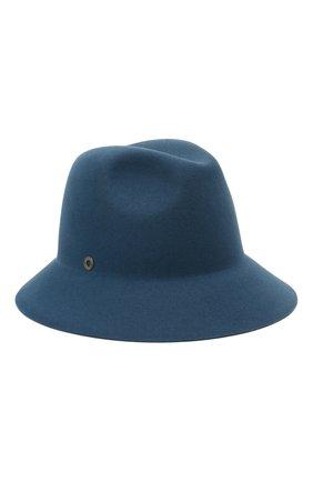 Женская фетровая шляпа ingrid LORO PIANA синего цвета, арт. FAL3434 | Фото 1 (Материал: Шерсть)