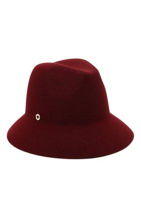Женская фетровая шляпа ingrid LORO PIANA бордового цвета, арт. FAL3434 | Фото 1 (Материал: Шерсть)