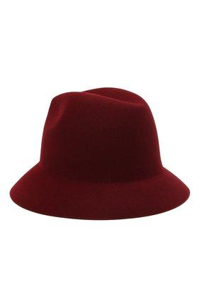 Женская фетровая шляпа ingrid LORO PIANA бордового цвета, арт. FAL3434 | Фото 2 (Материал: Шерсть)