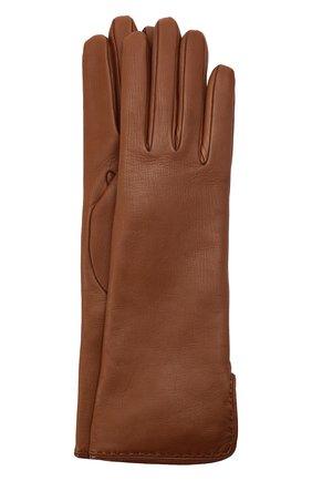 Женские кожаные перчатки LORO PIANA коричневого цвета, арт. FAL2778 | Фото 1