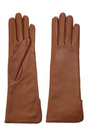 Женские кожаные перчатки LORO PIANA коричневого цвета, арт. FAL2778 | Фото 2