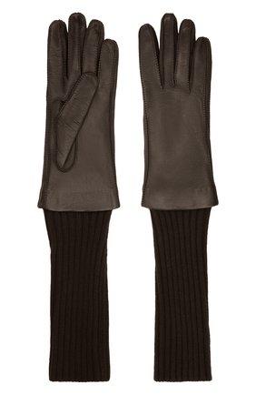 Женские перчатки LORO PIANA темно-коричневого цвета, арт. FAL8232 | Фото 2