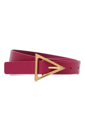 Женский кожаный ремень BOTTEGA VENETA розового цвета, арт. 609275/VMAU1 | Фото 1
