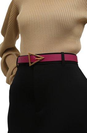 Женский кожаный ремень BOTTEGA VENETA розового цвета, арт. 609275/VMAU1 | Фото 2