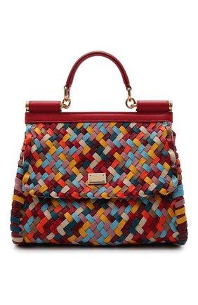 Женская сумка sicily DOLCE & GABBANA разноцветного цвета, арт. BB6002/A0324   Фото 1 (Материал: Натуральная кожа; Ремень/цепочка: На ремешке; Размер: small)