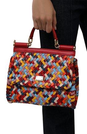 Женская сумка sicily DOLCE & GABBANA разноцветного цвета, арт. BB6002/A0324   Фото 2 (Материал: Натуральная кожа; Ремень/цепочка: На ремешке; Размер: small)
