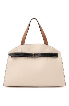 Женская сумка furla margherita FURLA светло-бежевого цвета, арт. WB00178/HSC000   Фото 1
