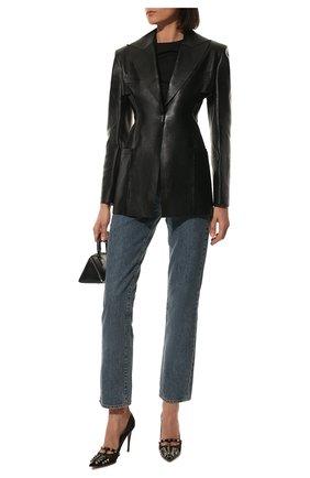 Женские кожаные туфли rockstud alcove VALENTINO черного цвета, арт. WW2S0CV9/AMW | Фото 2