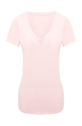 Женская футболка HANRO розового цвета, арт. 077876 | Фото 1