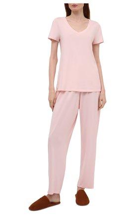 Женская футболка HANRO розового цвета, арт. 077876 | Фото 2