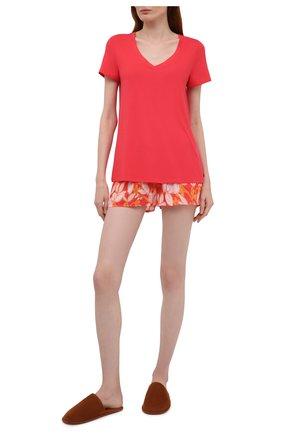 Женская футболка HANRO кораллового цвета, арт. 077876 | Фото 2