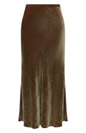 Женская бархатная юбка MAISON MARGIELA бежевого цвета, арт. S51MA0438/S53495   Фото 1