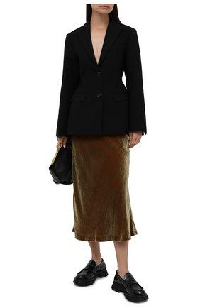 Женская бархатная юбка MAISON MARGIELA бежевого цвета, арт. S51MA0438/S53495   Фото 2