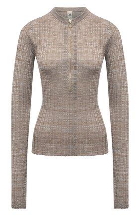 Женский шелковый пуловер PETAR PETROV бежевого цвета, арт. NELIA SR21K7 | Фото 1