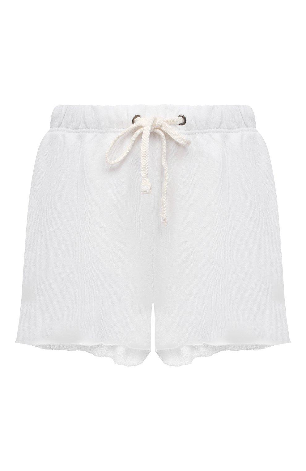 Женские хлопковые шорты JAMES PERSE белого цвета, арт. WXA4288 | Фото 1 (Женское Кросс-КТ: Шорты-одежда; Длина Ж (юбки, платья, шорты): Мини; Материал внешний: Хлопок; Стили: Спорт-шик)