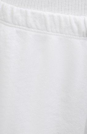 Женские хлопковые шорты JAMES PERSE белого цвета, арт. WXA4288 | Фото 5 (Женское Кросс-КТ: Шорты-одежда; Длина Ж (юбки, платья, шорты): Мини; Материал внешний: Хлопок; Стили: Спорт-шик)