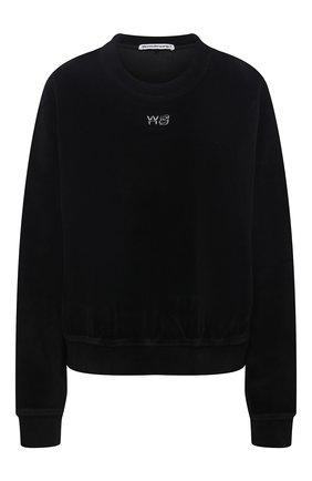 Женский хлопковый свитшот ALEXANDERWANG.T черного цвета, арт. 4CC3211265 | Фото 1
