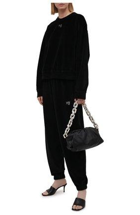 Женский хлопковый свитшот ALEXANDERWANG.T черного цвета, арт. 4CC3211265 | Фото 2