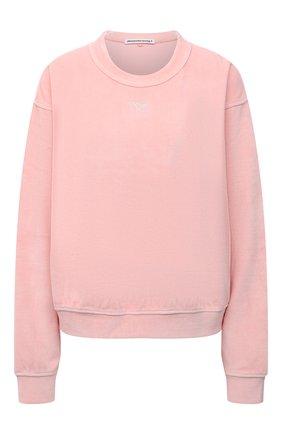 Женский хлопковый свитшот ALEXANDERWANG.T розового цвета, арт. 4CC3211265 | Фото 1