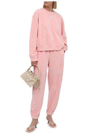 Женский хлопковый свитшот ALEXANDERWANG.T розового цвета, арт. 4CC3211265 | Фото 2