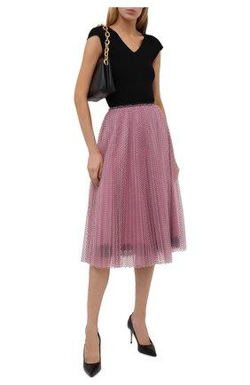 Женская юбка REDVALENTINO светло-розового цвета, арт. WR3RA01S/63D | Фото 2