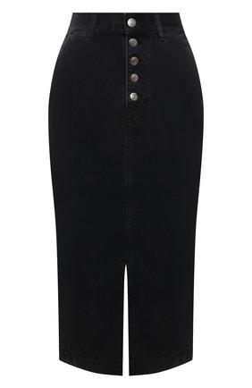 Женская джинсовая юбка BOSS серого цвета, арт. 50453852 | Фото 1