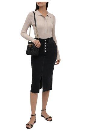 Женская джинсовая юбка BOSS серого цвета, арт. 50453852 | Фото 2