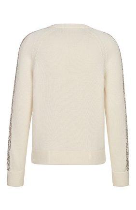 Мужской хлопковый свитер DIOR кремвого цвета, арт. 113M638AT187C081 | Фото 2