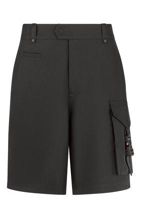 Мужские хлопковые шорты DIOR черного цвета, арт. 193C151A4451C900 | Фото 1