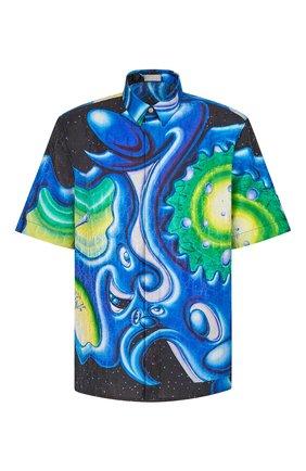 Мужская рубашка из хлопка и шелка dior x kenny scarf DIOR разноцветного цвета, арт. 193C545A5194C985 | Фото 1