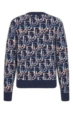 Мужской шерстяной свитер DIOR синего цвета, арт. 193M638AT344C584 | Фото 2