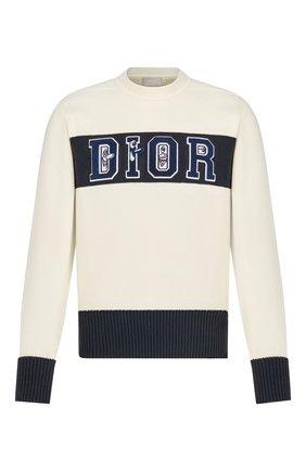 Мужской свитер DIOR кремвого цвета, арт. 193M639AT360C085 | Фото 1