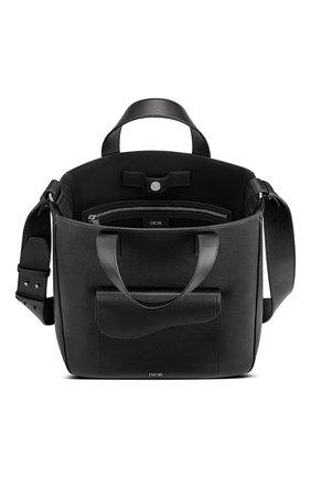Мужская кожаная сумка-шопер saddle DIOR черного цвета, арт. 1ADSH175YMJH00N | Фото 2