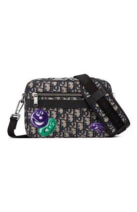 Мужская текстильная сумка safari dior x kenny scharf DIOR бежевого цвета, арт. 1ESPO206UAUH10E | Фото 1