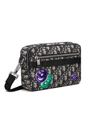 Мужская текстильная сумка safari dior x kenny scharf DIOR бежевого цвета, арт. 1ESPO206UAUH10E | Фото 2