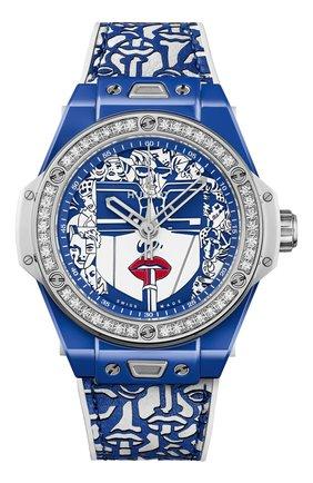 Женские часы big bang one click marc ferrero ceramic blue HUBLOT бесцветного цвета, арт. 465.EX.5120.VR.1204.MLIP21 | Фото 1